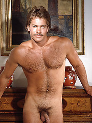 Retro mustache men naked good